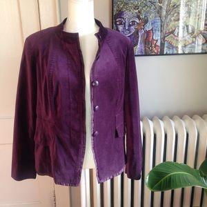 COLDWATER CREEK Purple Velour Tailored Blazer